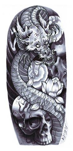 Dragon  Skulls Art Print