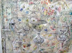 David Jones Flora in Calix Light, 1950, Watercolour and graphite on paper: Kettle's Yard House Gallery, Cambridge