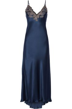 Beautiful! La Perla - Maison lace-trimmed silk-blend satin nightdress  #nightdress