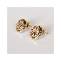Metallic Druzy Earings