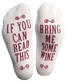 Funny Socks for the Wine Lover - great stocking stuffer or small Christmas gift!