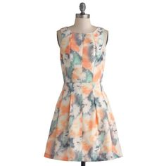 """FLASH SALE! Tie-dyed Dress Bea & Dot ModCloth ModCloth-exclusive Bea & Dot Dress. Called the Sorbet Okay! Dress. 36"""" long. Soft satin, fully lined, gorgeous colors! ModCloth Dresses"""