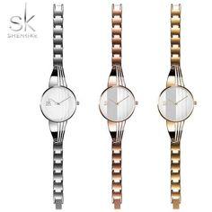 2018 New Fashion Shengke Bracelet Women Watches for Lady Dress Sliver  Charming Chain Quartz Wrist Watches for Women Reloj Mujer fa9d4b42de41
