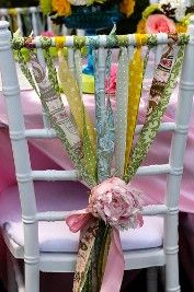another fun way to 'party-up' plain chairs!  :)