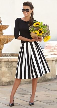 Style it, stripped skirt