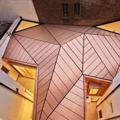 Great James Street Office extension with a faceted copper roof by Emrys Architects Roof Architecture, Architecture Details, Container Architecture, Futuristic Home, Roof Extension, Copper Roof, Building Department, Roof Styles, Roofing Systems