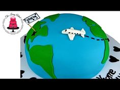 3D Globe Travel Cake - How To With The Icing Artist - YouTube