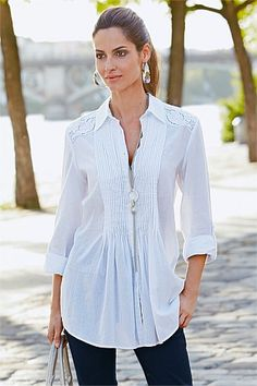 Women's Tops - Together Pin Tuck Shirt