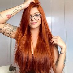 Red Hair Color : Orange Hair Long Straight Synthetic None Lace Wigs For Black Women Heat Resistant Fiber Glueless None Lace Synthetic Hair-Maycaur - Beauty Haircut Natural Red Hair, Long Red Hair, Copper Red Hair, Bright Copper Hair, Black Hair, Beautiful Red Hair, Beautiful Redhead, Cheveux Oranges, Red Hair Color