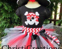 Mädchen-Piraten-Kostüm Halloween Piraten Tutu von ChristiCreations