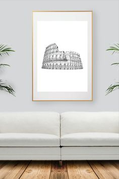 Rome, Black And White Wall Art, City Art, Decoration, All Print, Handmade Gifts, Prints, Etsy, Collection