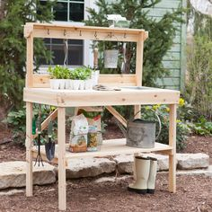 projectsHave to have it. Coral Coast Walton Cedar Wood Potting Bench with Sink - $199.99 @hayneedle.com