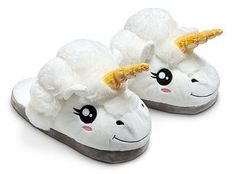 Plush Unicorn Fantasy Slippers - One Size Fits Most Adults - Think Geek Box Kawaii, Kawaii Doll, Design3000, White Unicorn, Tween Girls, Christmas Wishes, Dark Christmas, Christmas Crafts, Mode Style