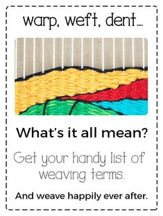 The Creativity Patch-Learn to Weave-Courses and Weaving Kits Weaving Textiles, Weaving Art, Weaving Patterns, Tapestry Weaving, Loom Weaving, Hand Weaving, Knitting Patterns, Stitch Patterns, Loom Knitting
