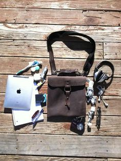 iPad Traveler Bag  Brown  Thick Full Grain by CopperRiverBags, $86.95