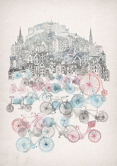 A collection of art prints, released through the Red Door Gallery in Edinburgh.