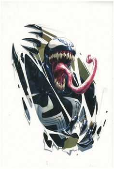 Marvel: this would make an amazing tattoo Venom Comics, Marvel Venom, Marvel Dc Comics, Marvel Heroes, Marvel Characters, Marvel Avengers, Spiderman Art, Amazing Spiderman, Venom Spiderman