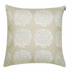 Marimekko Puketti Beige/Navy Throw Pillow - Click to enlarge