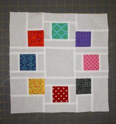 Emerald Coast Modern Quilt Guild: February 2014 Lottery Block - Circle of Friends Block