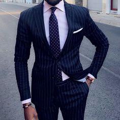 The Blue Suit Collection Mens Blue Pinstripe Suit, Blue Suit Men, Blue Suits, Nehru Jacket For Men, Pink Check Shirt, 3 Piece Tweed Suit, Tom Ford Suit, Suit Combinations, Designer Suits For Men