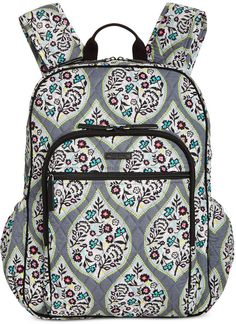 Image 1 of Vera Bradley Campus Tech Backpack Backpack Craft, Backpack Purse, Tote Bag, Vera Bradley Purses, Vera Bradley Backpack, Vera Bradley Patterns, Backpack Reviews, Backpack Online, Brown Bags