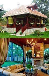 Tiny House Cabin, Tiny House Design, Cabin Homes, Cottage Homes, Log Homes, Hut House, Cabin Design, Staircase Design Modern, Aluminum Pergola