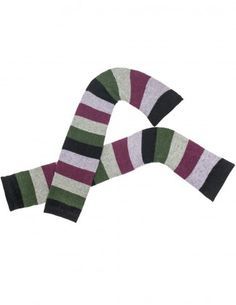 Dahlia Women's Wool Blend Leg Warmers - Colorful Stripes