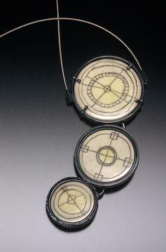 Trio Cream Circles by Jan M. Smith