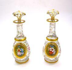 Pair Antique Bohemian Perfume Bottles - picture 9
