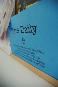 """""""The Daily 5"""" can be an organization game changer for your family!!!"""