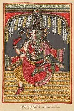 "Shiva Ardhanarishvara. ""Indian Deities,"" two albums 195 illustrations. Southern Andhra Pradesh (north of Madras), bordering Karnataka, around 1720-1730."