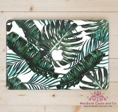 Tropical Leaves MacBook Case. MacBook Case. Top (printed) and Bottom (clear)…