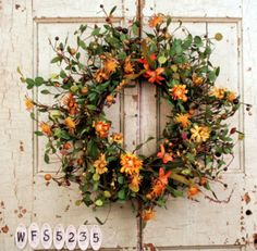 Dreamsickle Autumn Wreath For Doors