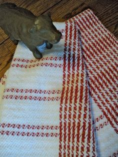 beautiful hand woven towel by ThistleRoseWeaving on etsy