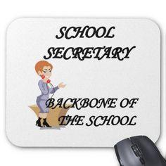 SCHOOL SECRETARY MOUSE PADS