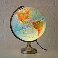 Kids Illuminated World Globe Lamp | The Land of Nod