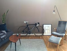 "516 Likes, 19 Comments - CAMILLA (@camillanr1) on Instagram: ""Home is where my bike is ❤ * * * #pinarello  #cycling  #interiordesign  #bikelife #norrland"""