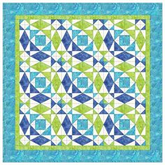 Квилт, состоящий из девяти таких блоков выглядит очень эффектно, за счет визуальной иллюзии изогнутых линий.