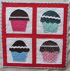 Quilted Cupcake Pattern | Photos, Cupcake and Patterns : cupcake quilt patterns - Adamdwight.com