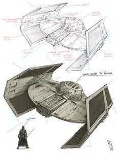 Darth Vader's Tie Fighter, Shane Molina on ArtStation at https://www.artstation.com/artwork/darth-vader-s-tie-fighter