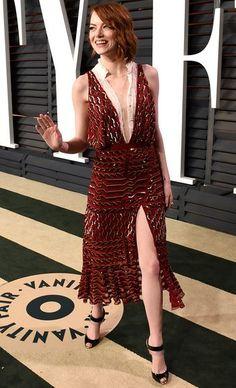 Emma Stone vestindo Altuzarra - Vanity Fair Oscar Party | DRESS A PORTER – BLOG