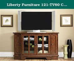 "Liberty Furniture 121-TV60 Cabin Fever TV Console, 60"" x 21"" x 36"", Bistro Brown. Celebrate American spirit with the traditional styling of Cabin Fever. Cabin fever bears the imprint of previous generations. Relaxed, rustic styling that never goes out of fashion. Cabin fever features a combination of shaker and craftsman designs that will add warmth to any home. Liberty Furniture is a dedicated provider of all wood products including bedroom, dining, entertainment, occasional and home…"