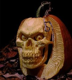 Skull pumpkin--another challenge?