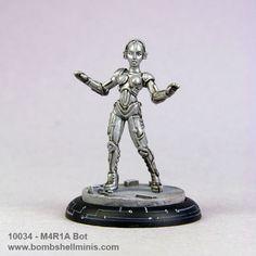 Bombshell Miniatures: M4R1A Bot, Babes