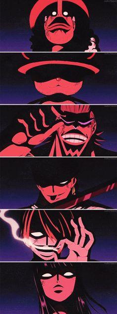 Usopp, Chopper, Franky, Zoro, Sanji e Robin - One Piece