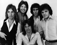 """Chilliwack: a Canadian rock band that had their heyday during the 1970s and 1980s. They are perhaps best remembered for their five biggest songs """"My Girl (Gone Gone Gone)"""", """"I Believe"""", """"Whatcha Gonna Do"""", """"Fly At Night"""" and """"Lonesome Mary"""". The band's lineup has changed numerous times, though Bill Henderson has constantly remained a fixture, and Chilliwack continue to tour across Canada.....photo from 1971 - Jamie Bowers, Brian MacLeod, Bill Henderson, Glenn Miller, and Ross Turney"""