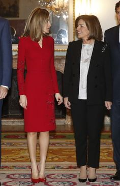 Queen Letizia of Spain Photos: Royals Visit Permanent Council