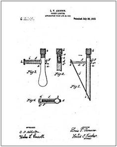 Tobacco Items, Vintage Internet Patent Reproductions