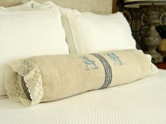 Simple Sew and No-Sew Pillows, Cushions and Toys: Instead of covering your bed with a pile of throw pillows, try the simple, fuss-free look of a single bolster. Theyre easy to make and provide comfy support when working in bed or just curling up with a good book.  From DIYnetwork.com