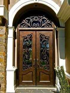 Iron Double Door w/ Transom Clark Hall Iron Doors Charlotte, NC